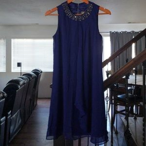 NWT Vince Camuto Jewel Neck Cocktail Dress Size 4